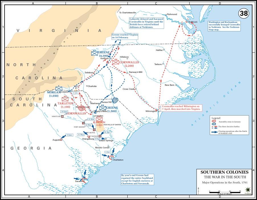 Map Of Civil War Battlefields In South Carolina
