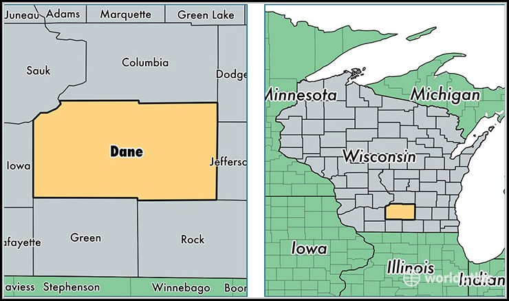 Map Of Dane County