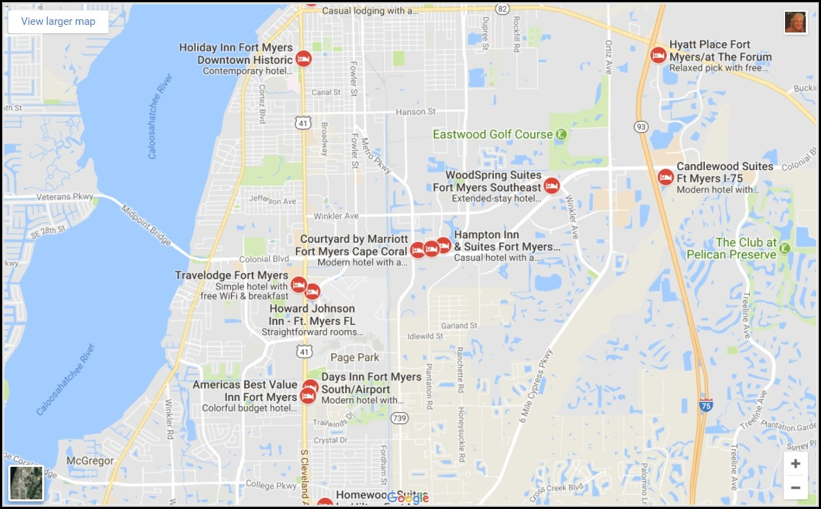 Map Of Fort Myers Beach Hotels