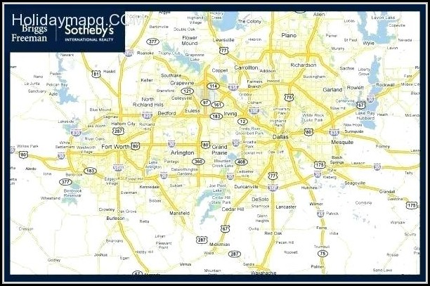 Map Of Greater Dallas Fort Worth Area
