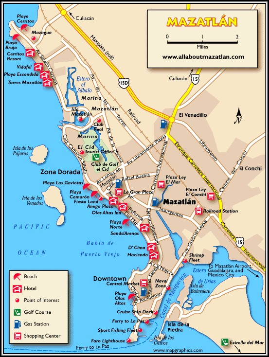 Map Of Mazatlan Mexico