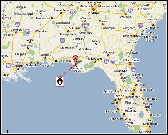 Map Of Panama City Beach Florida