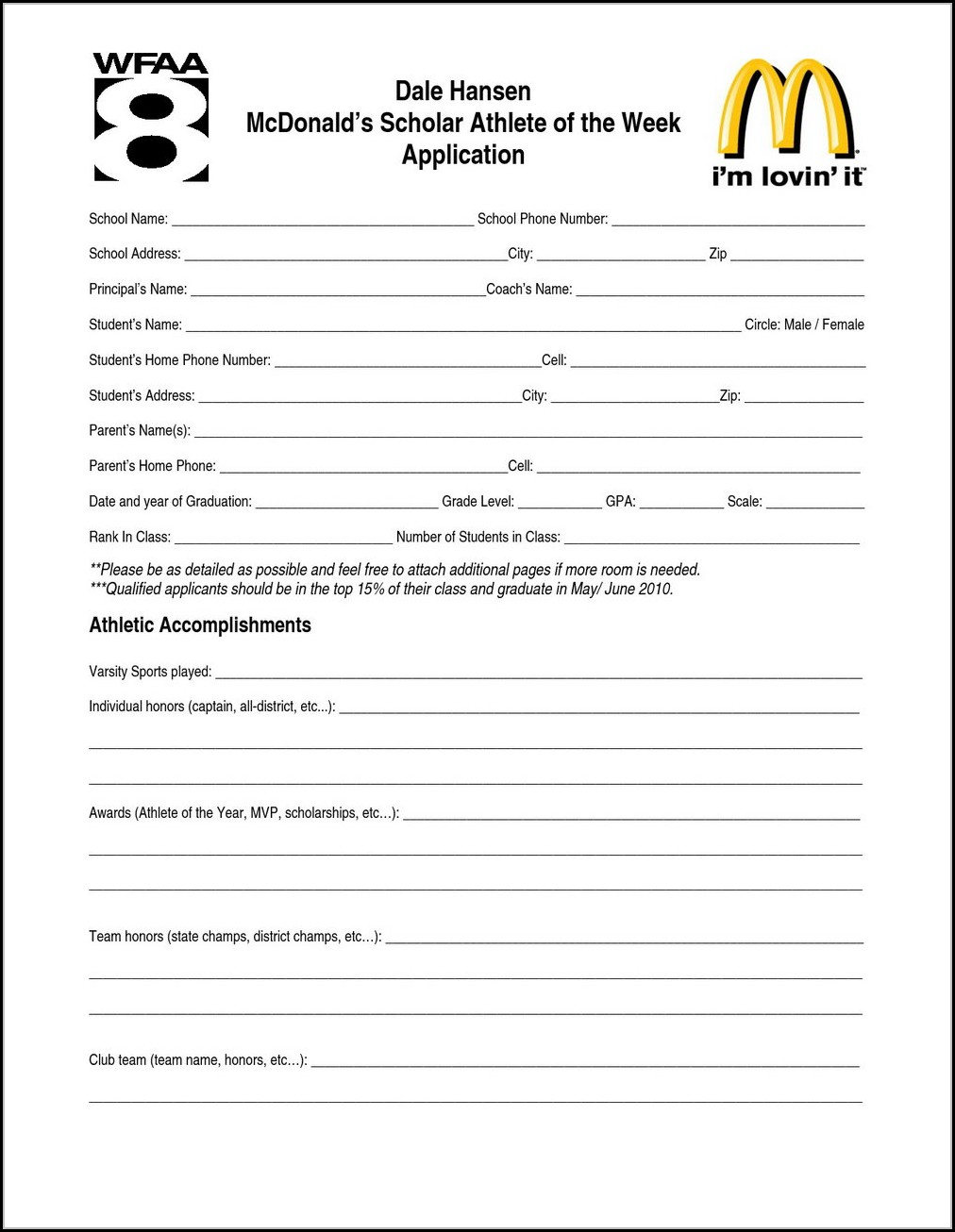 Mcdonalds Job Online Application
