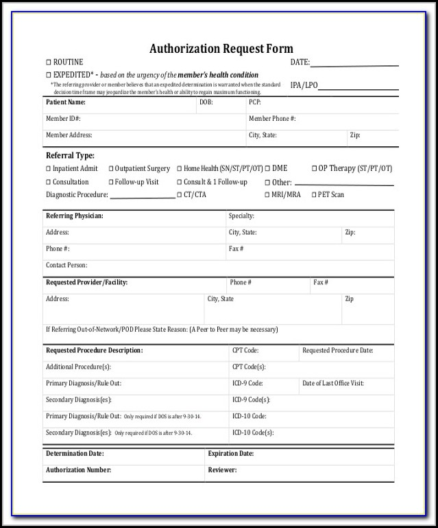Medco Prior Authorization Form For Medication