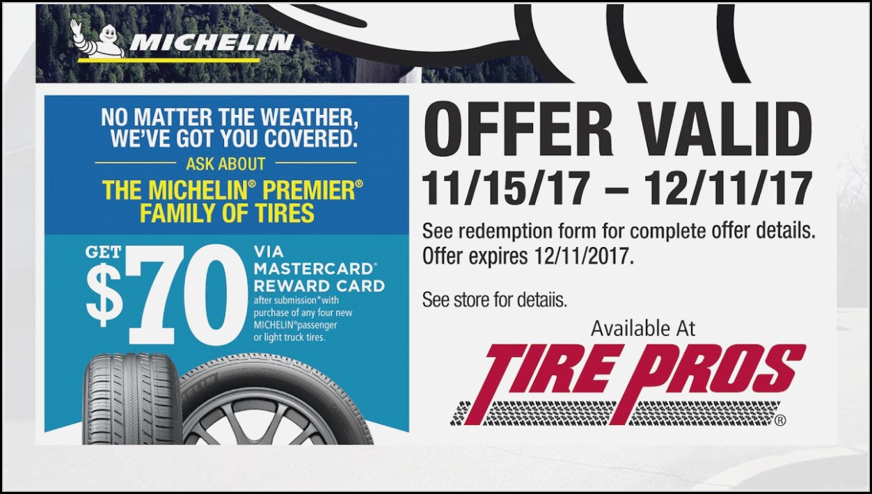 Michelin Tire Rebate Form