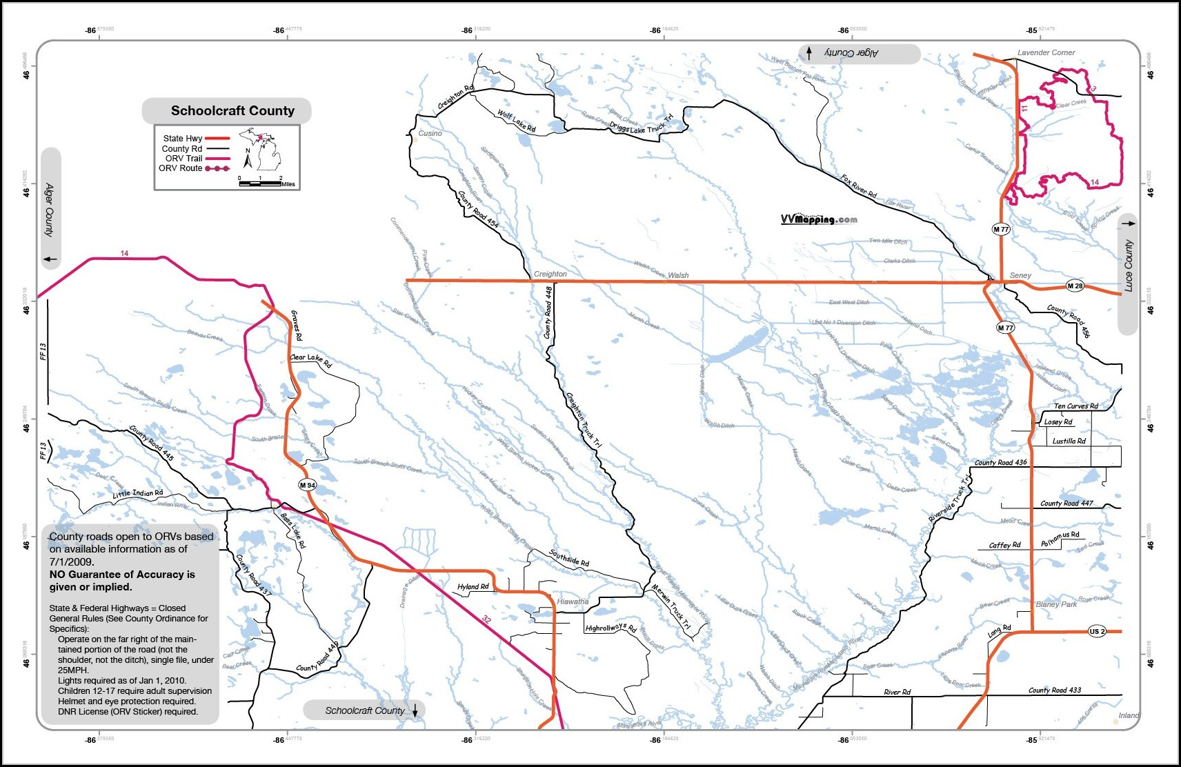 Michigan Snowmobile Trail Maps Gps
