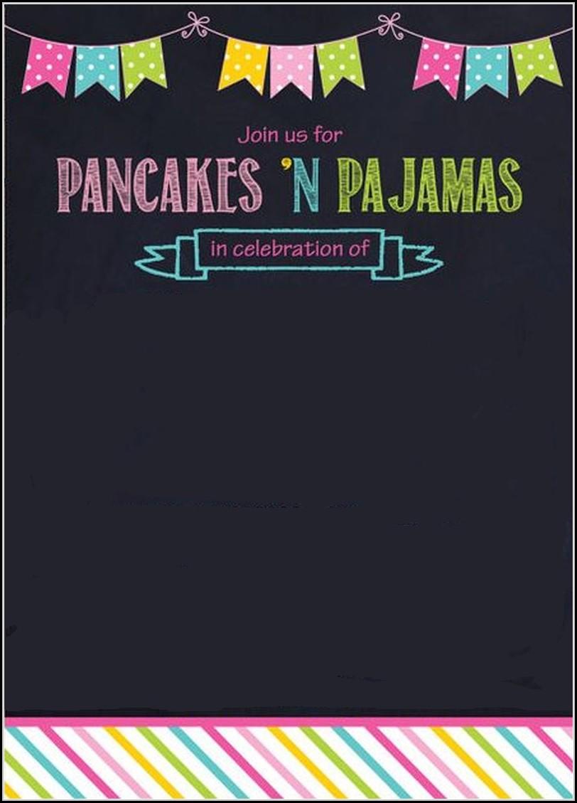 Pajama Party Invitation Template