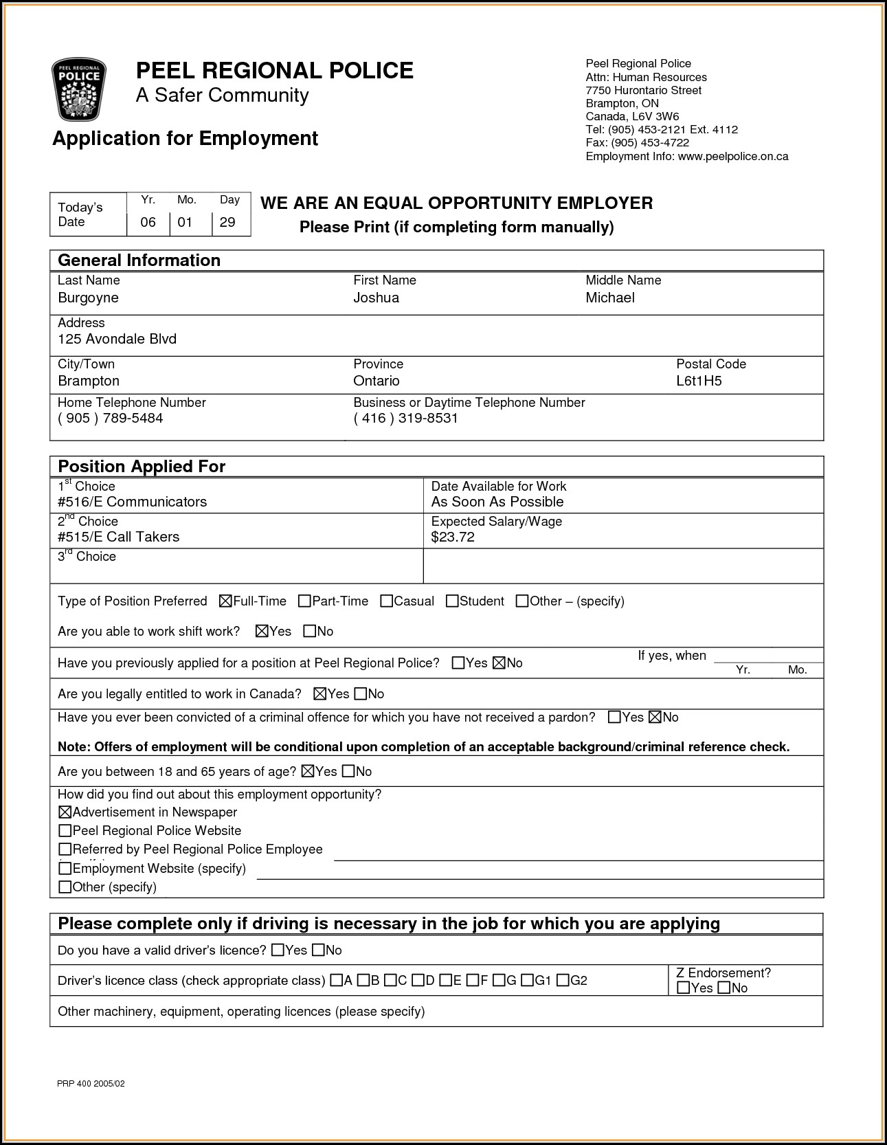 Payless Shoes Job Application Form Canada