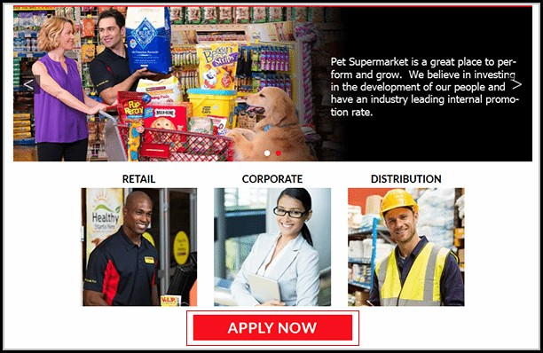 Pet Supermarket Job Application
