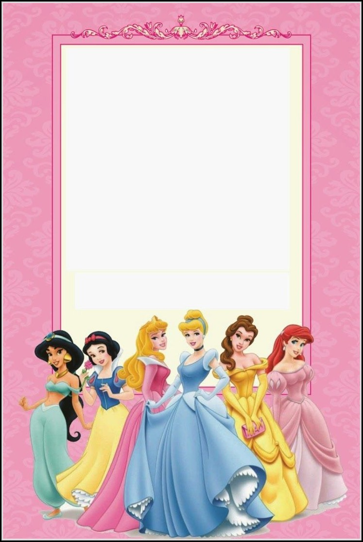 Printable Disney Princess Invitation Template