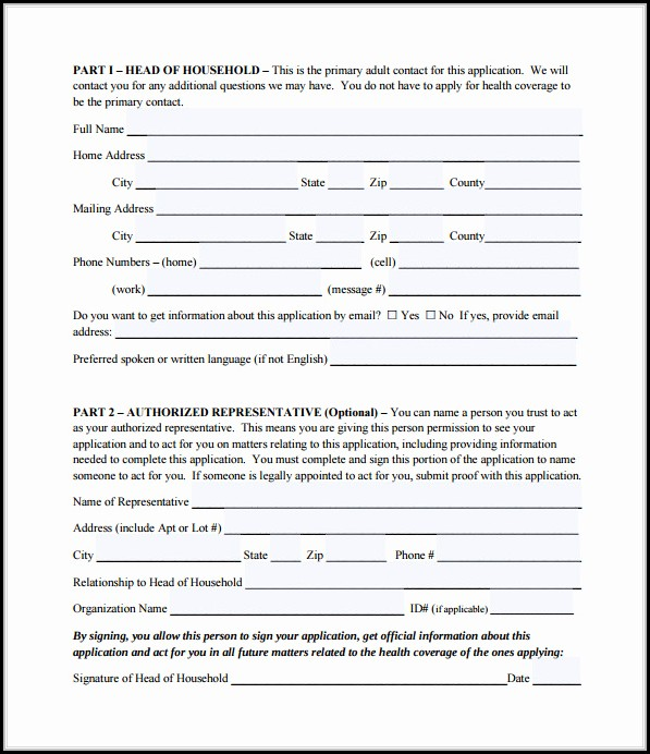 Printable Medicare Application Form