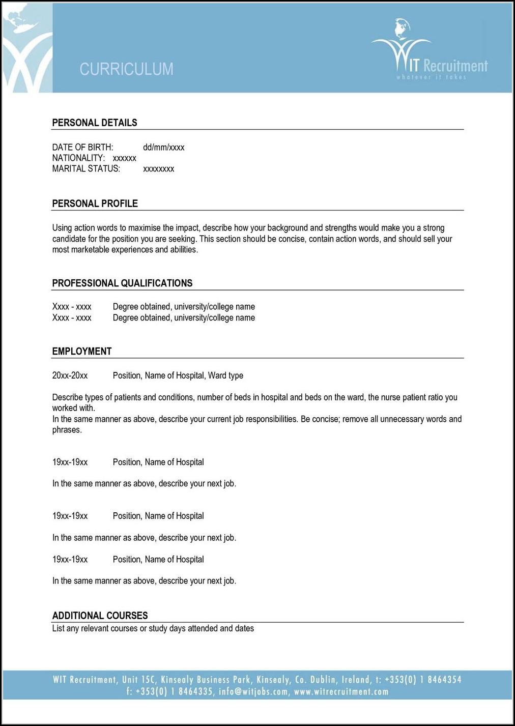 Printable Resume Examples 2017