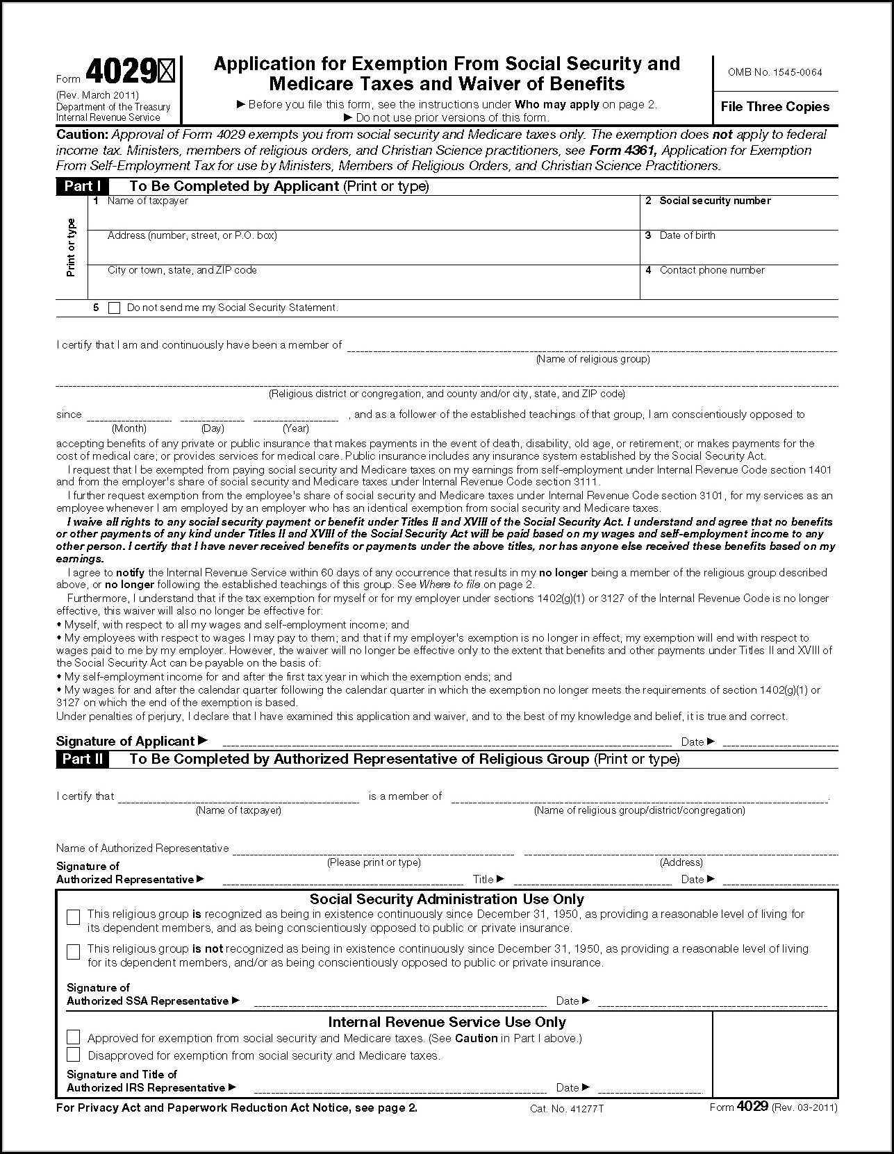 Printable Social Security Disability Forms