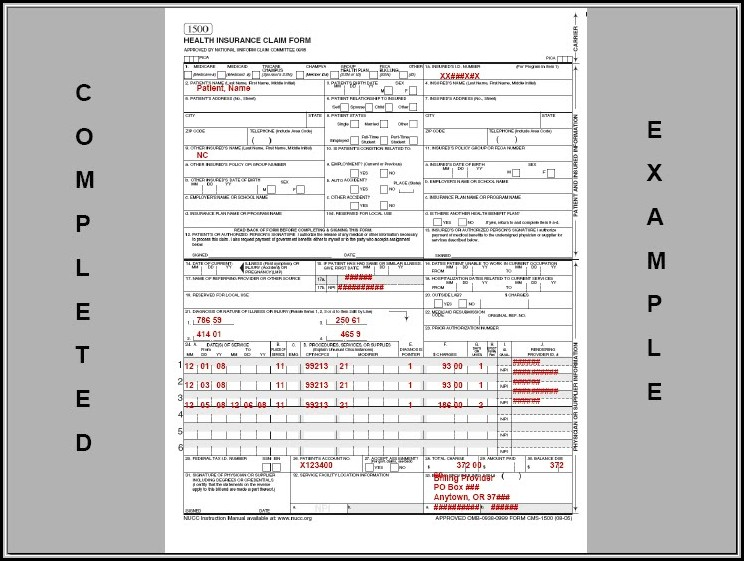 Sample Cms 1500 Form Filled Out