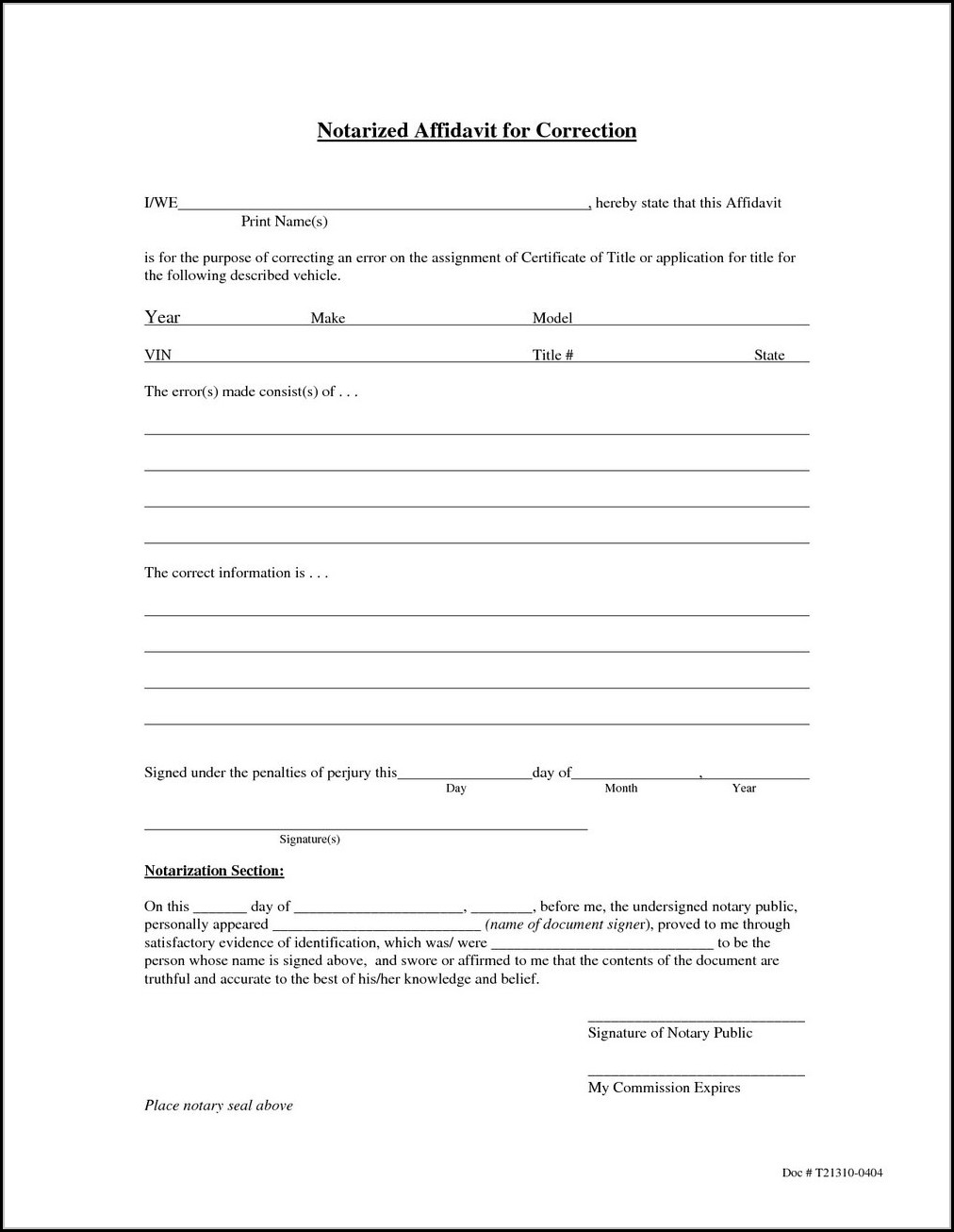 Small Estate Affidavit California Form 13101