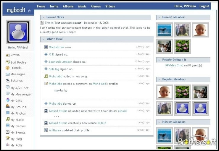Social Networking Sites Templates Free Download