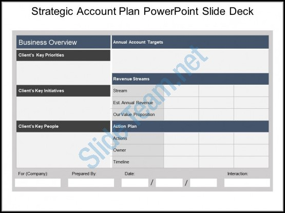Strategic Account Plan Template Ppt