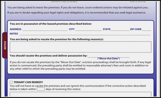 Texas Eviction Notice Form Pdf