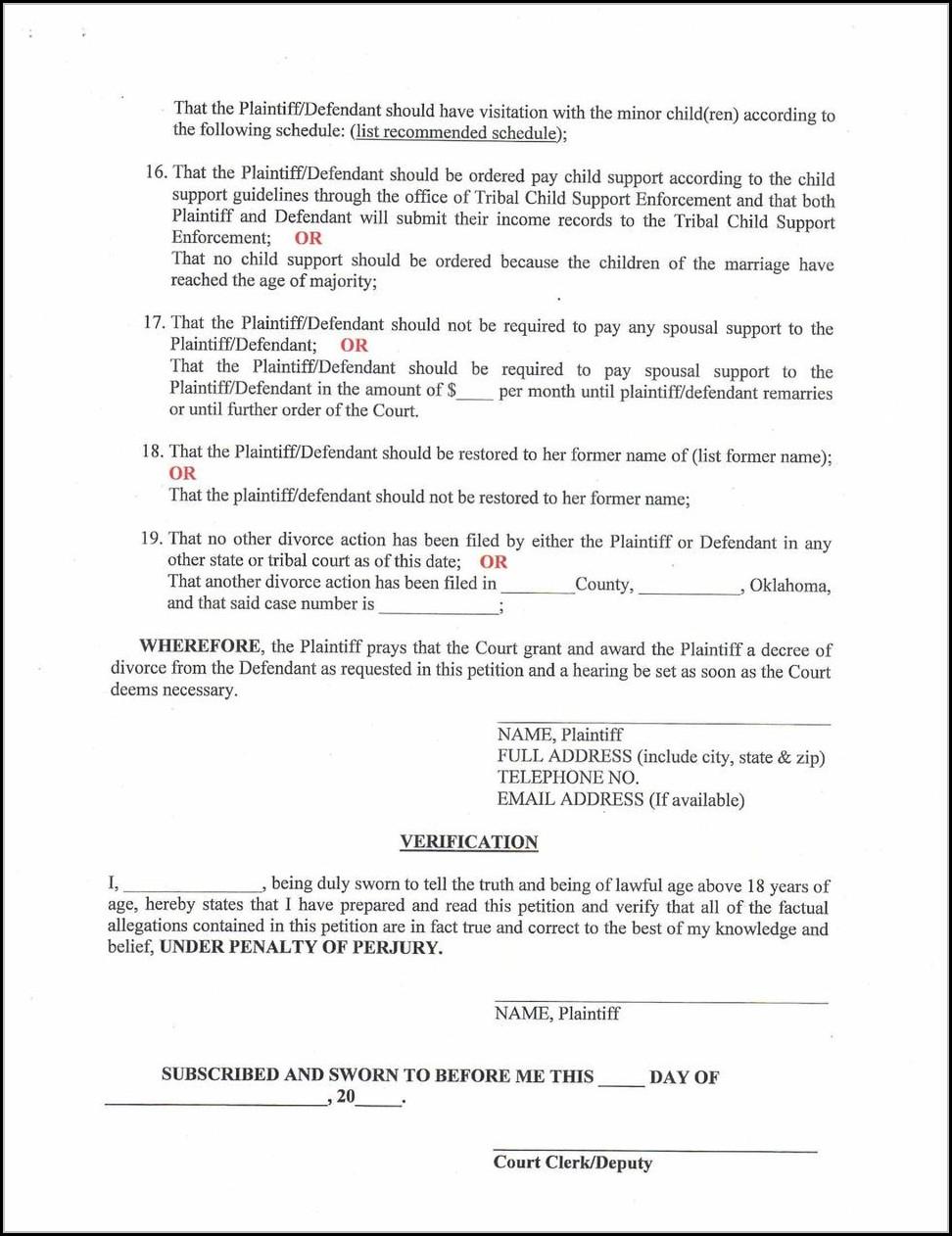 Texaslawhelp Divorce Form Set B