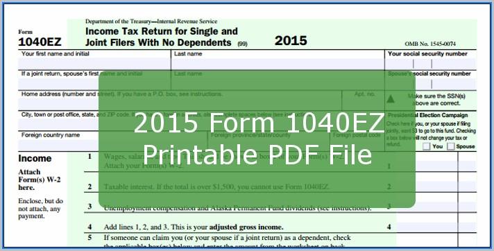 1040ez Form 2015