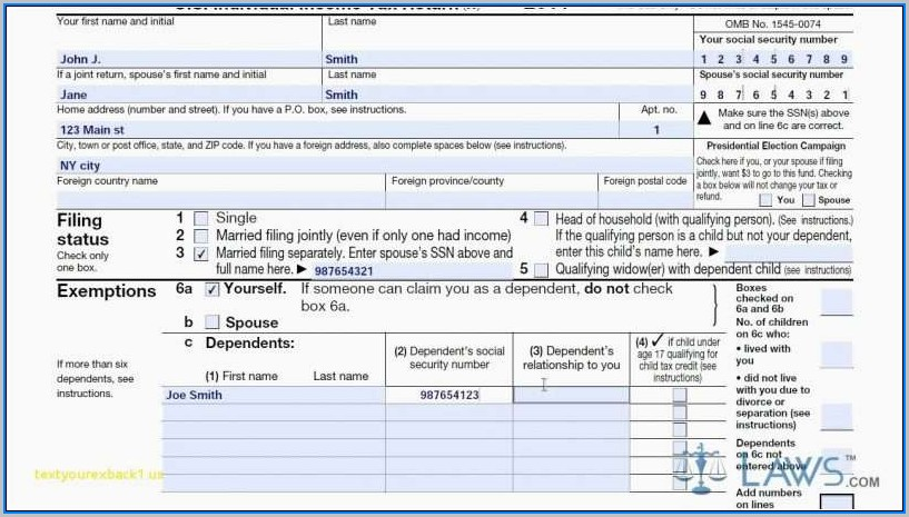 2014 Form 1040a Instructions
