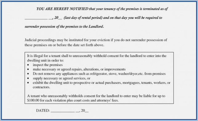 30 Day Eviction Notice Form Ohio