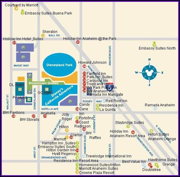 Anaheim Disney Hotel Map