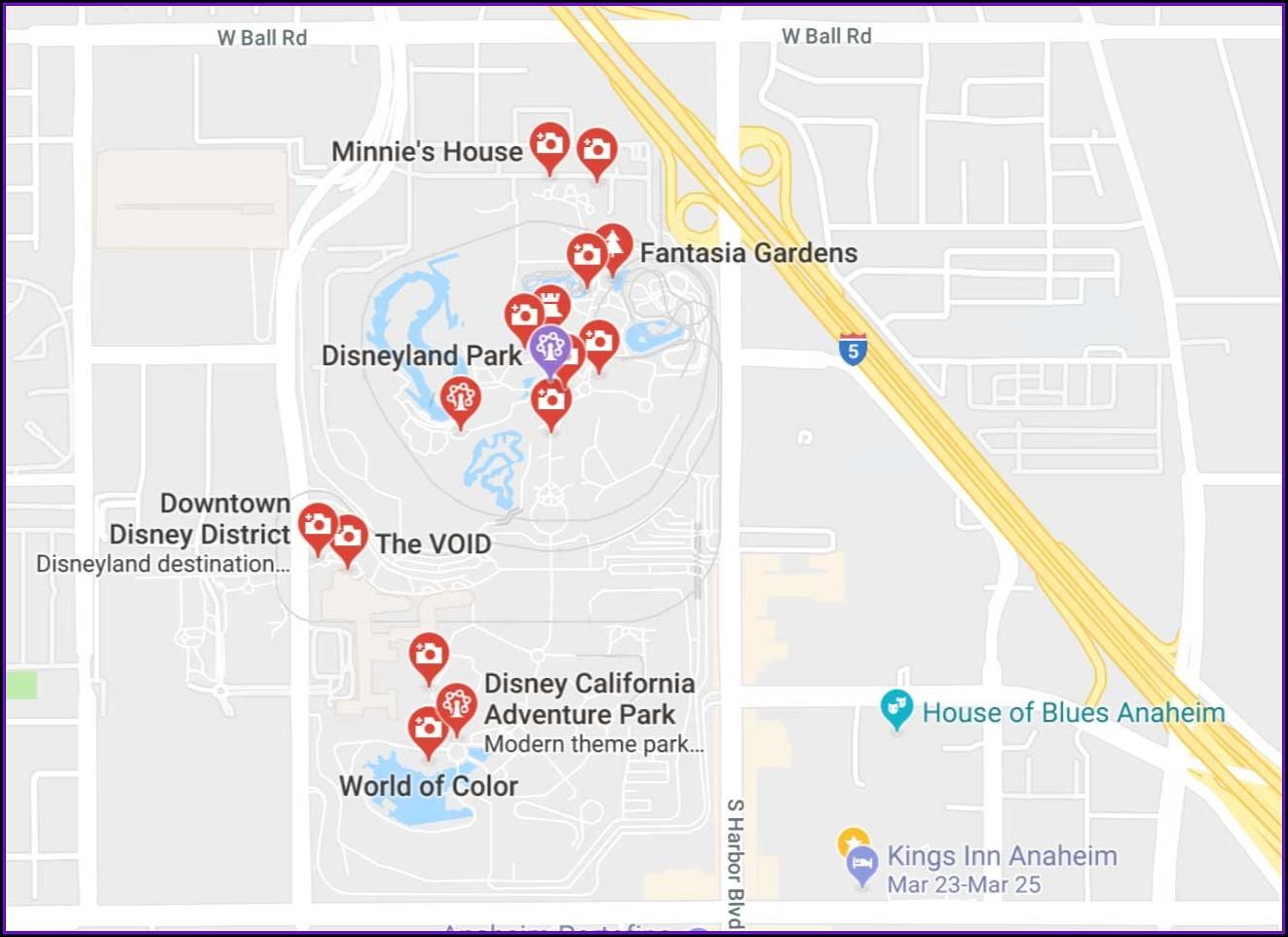 Anaheim Hotel Map Near Disneyland