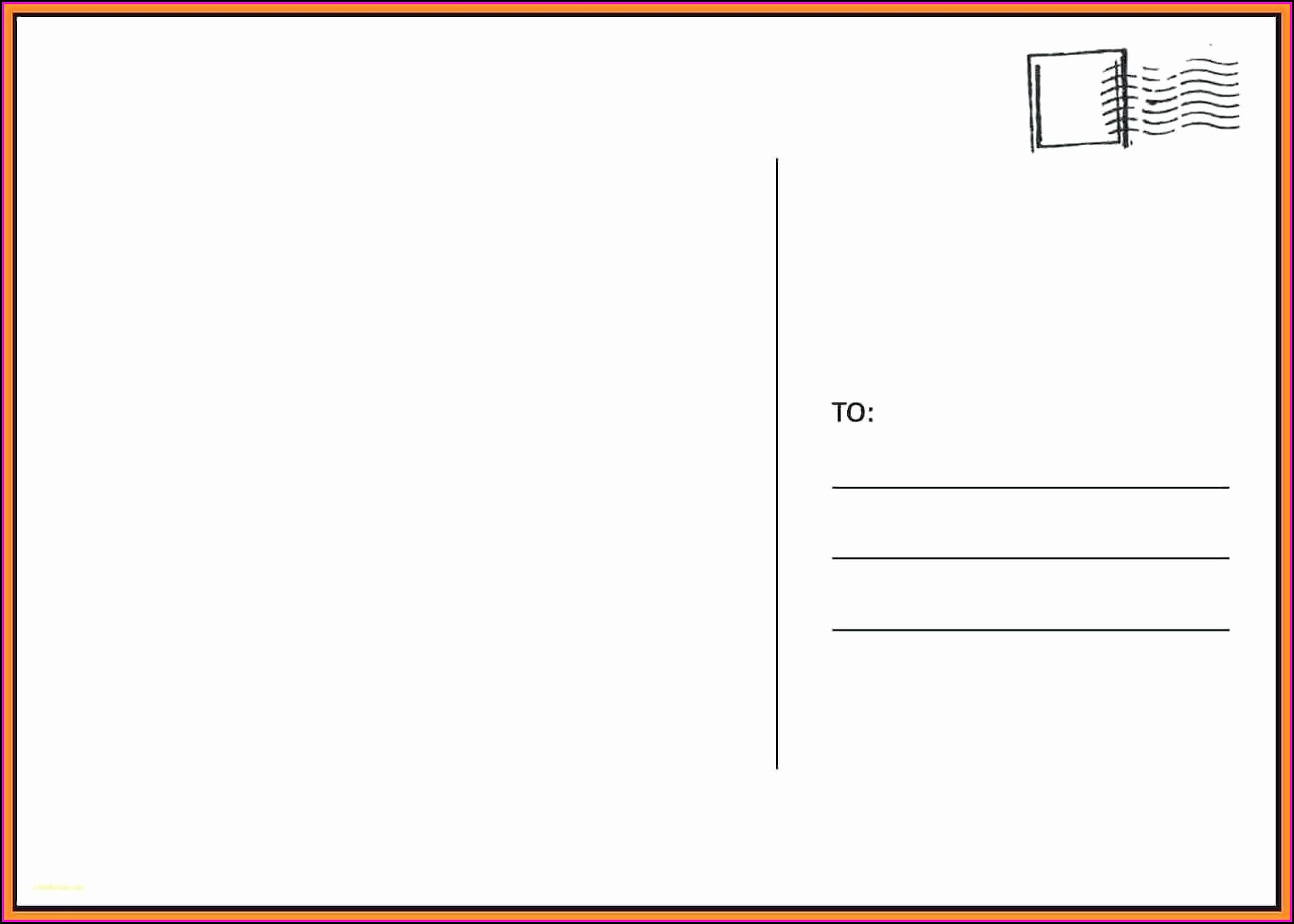 Avery 4x6 Postcard Template