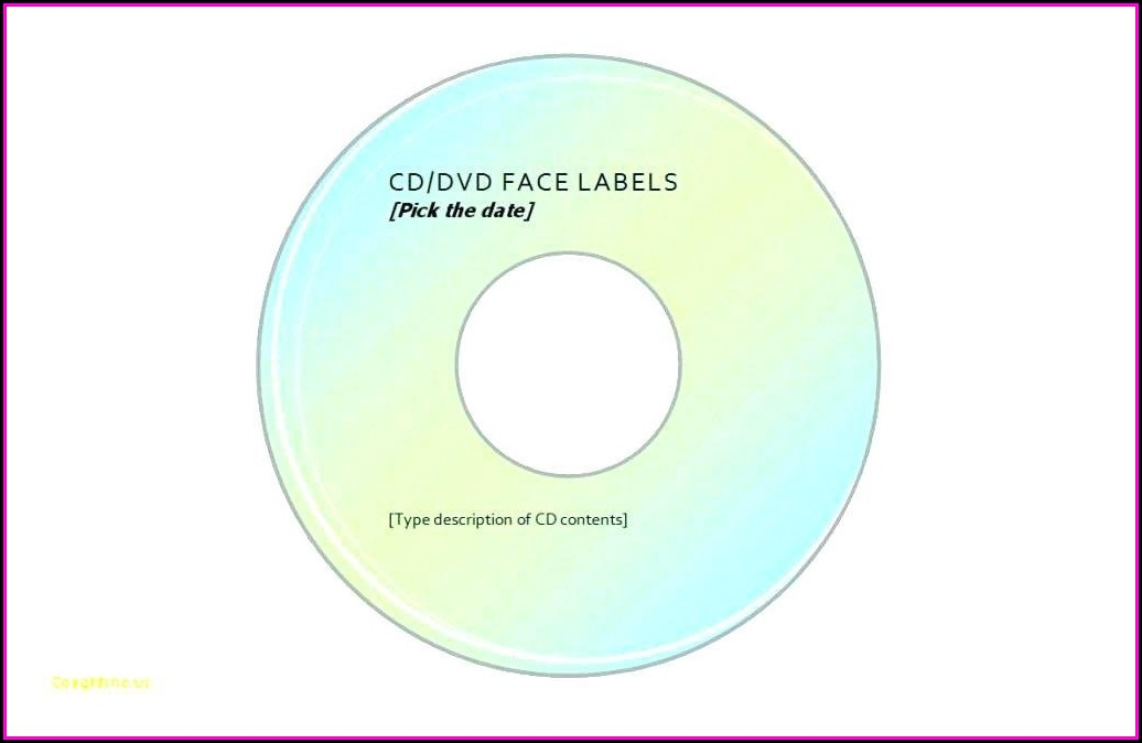 Avery Dvd Labels Template 8692