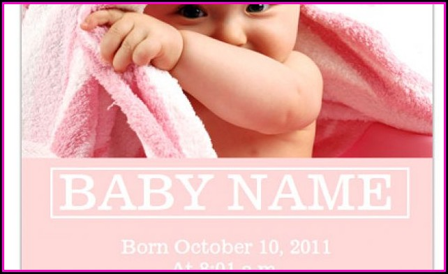 Baby Birth Announcements Templates For Free