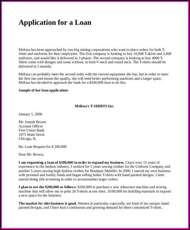 Bank Loan Proposal Template