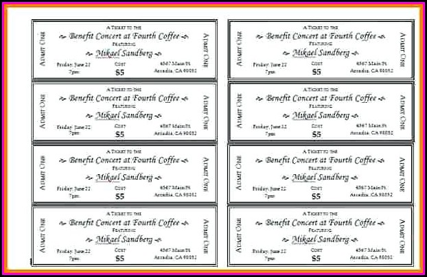 Bbq Benefit Tickets Template