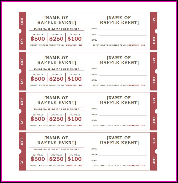 Bbq Tickets Template Free