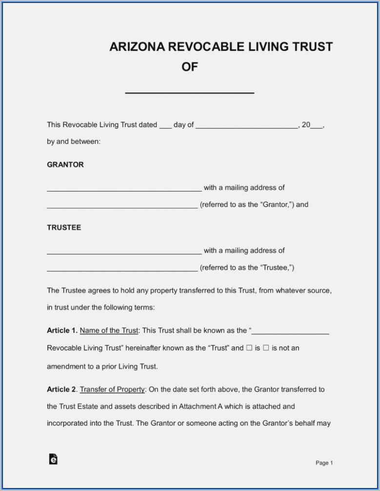 Beneficiary Deed Form Az