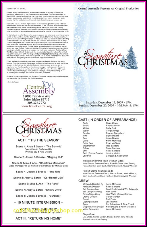 Christmas Programs Templates For Church