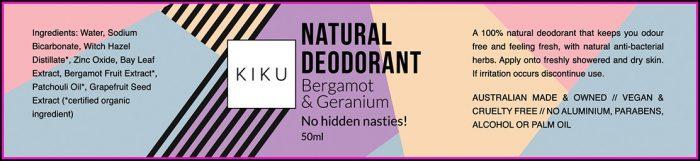 Deodorant Label Template