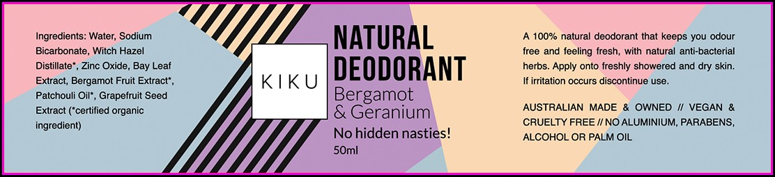 Deodorant Label Template