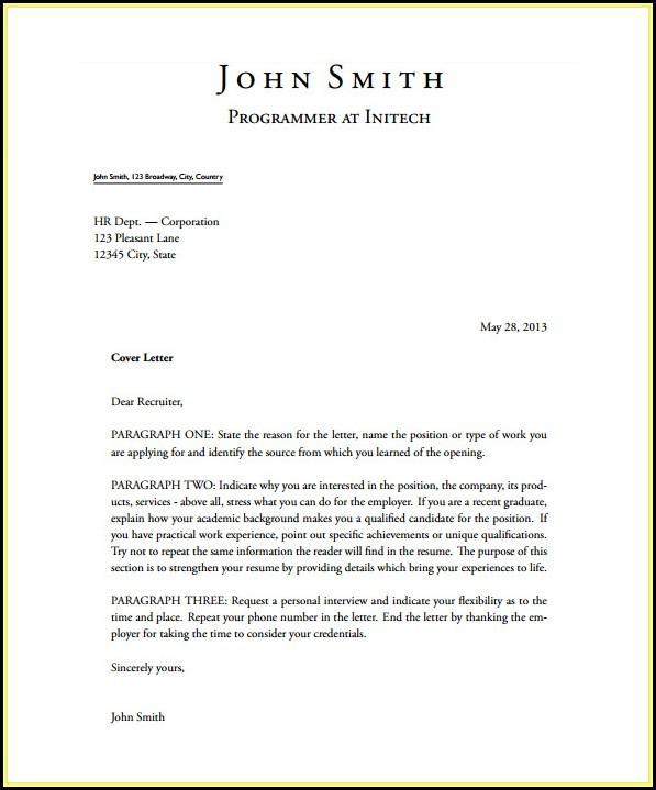 Download Resume Cover Letter Samples Free