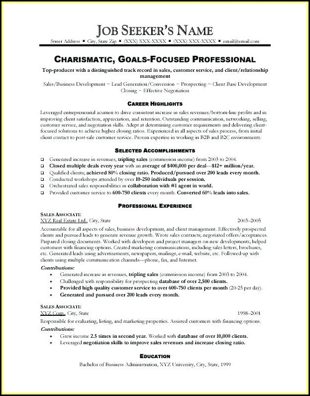 Executive Cv Formats