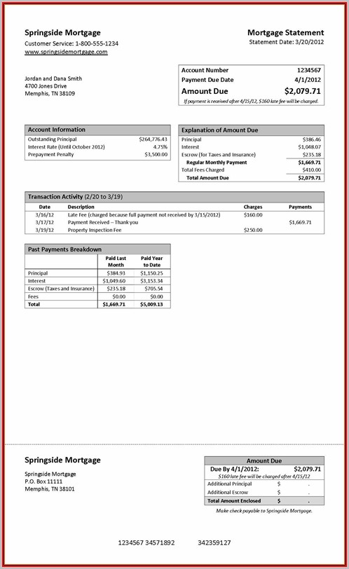 Fake Chase Bank Statement Template