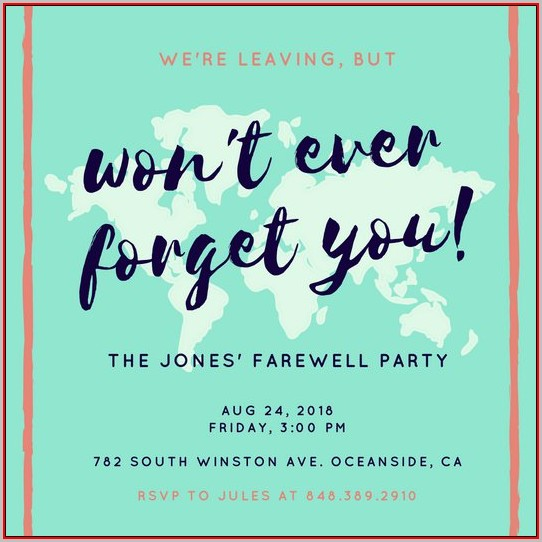 Farewell Invitation Templates