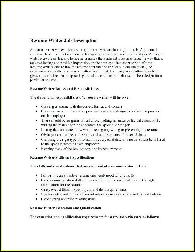 Federal Resume Writing Reviews