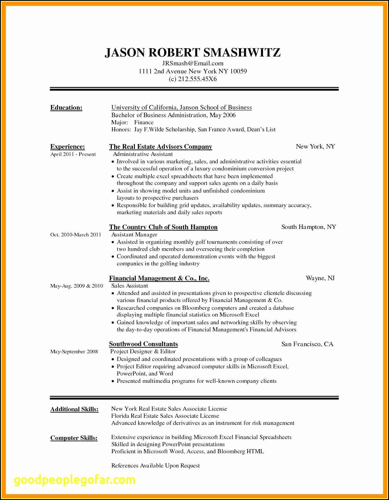 Fill In Resume Template Free Download