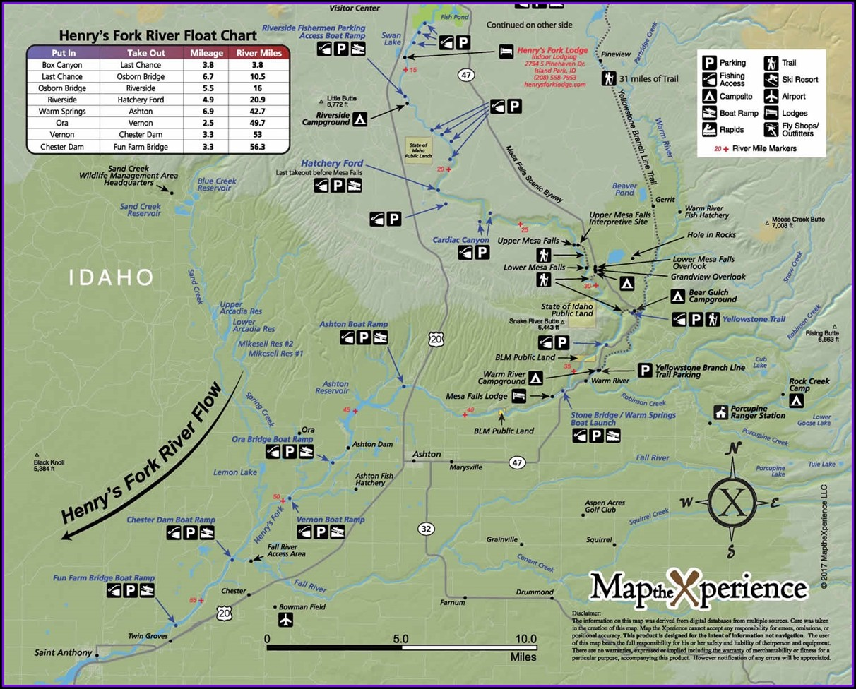 Fly Fishing Idaho Map