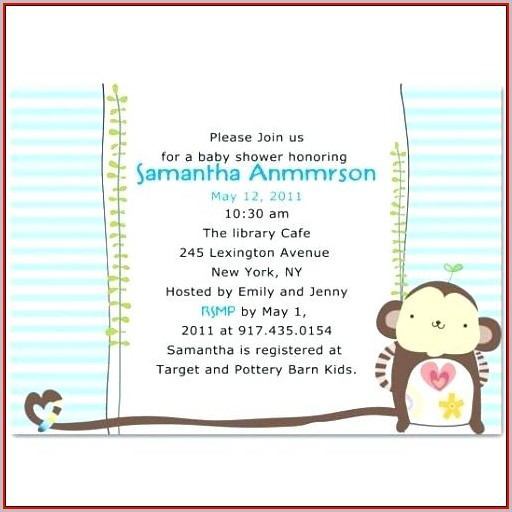 Free Baby Boy Shower Invitations Templates Pdf