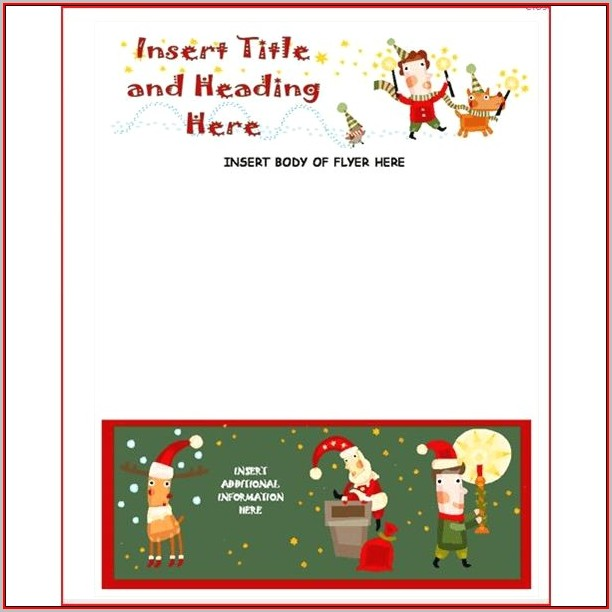Free Christmas Flyer Templates For Publisher