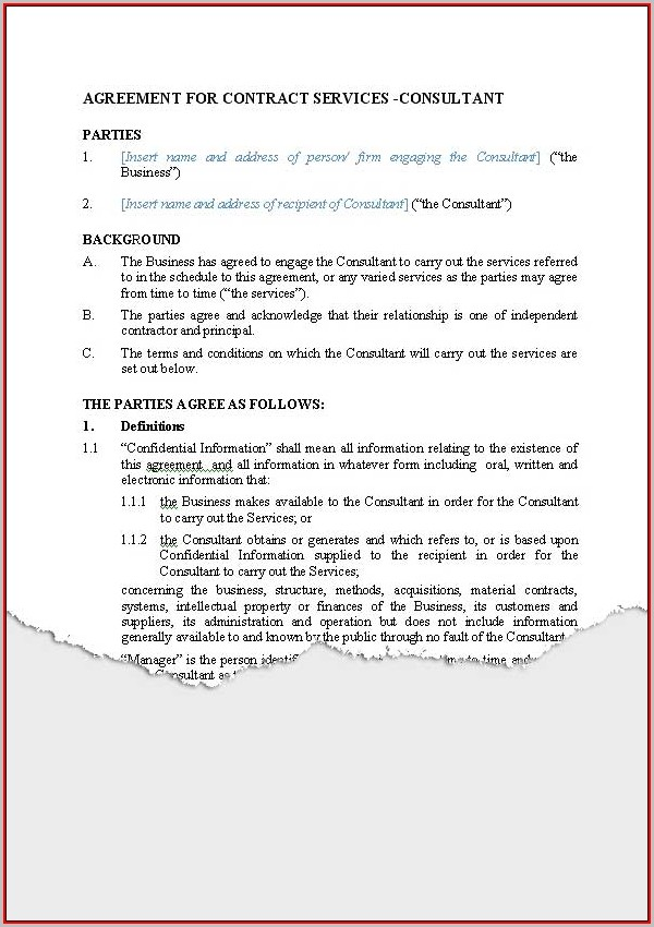 Free Contractor Agreement Template Nz