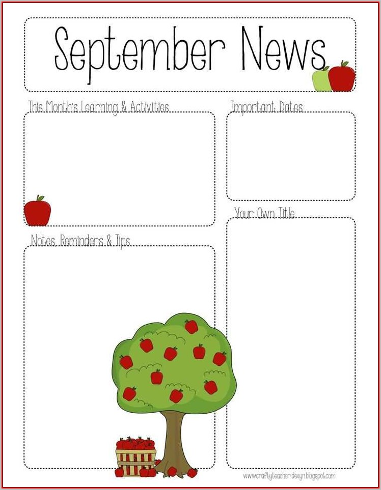Free Editable Preschool Newsletter Templates