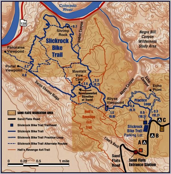 Moab Utah Trail Map